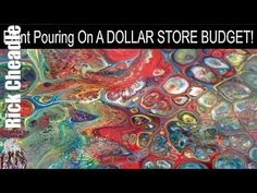 Paint Pouring On A Dollar Store Budget - Get Started Paint Pouring for UNDER $10 - YouTube