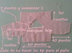 Esta torerita para bebé está realizada a punto bobo con un remate a ganchillo. Muy fácil y rápida de hacer. This torerita for baby is made to point bobo with a crochet finish. It is knitted with Katia (PANAMA) needles 2 I used somet Ravelry: Baby Kimo Baby Knitting Patterns, Knitting For Kids, Crochet For Kids, Knitting Stitches, Baby Patterns, Free Knitting, Knitting Projects, Knit Crochet, Knitting Tutorials