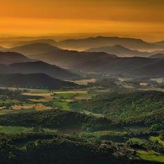 Sunrise over the Spanish Pyrenees