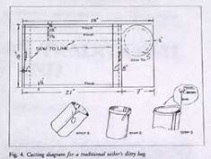 Instructions for making a traditional sailor's ditty bag