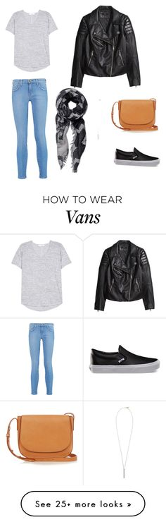 """""""Comfy Casual"""" by jcabernel on Polyvore featuring Current/Elliott, Vans, H&M, rag & bone, Mansur Gavriel and French Connection"""