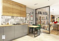 10 Kitchen Layout Mistakes And 30 Open Concept Kitchens (Pictures of Designs & Layouts) - Di Home Design Kitchen Dinning, Living Room Kitchen, Kitchen Decor, Dining Room, Zen Interiors, Green Interior Design, Elegant Kitchens, Open Concept Kitchen, Cabinet Design