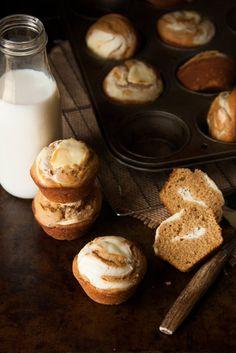 Gingerbread Cream Cheese Doughnut Muffins | thekitchenmccabe.com