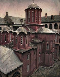Monastery Koutloumousiou (Holy Transfiguration Monastery), Mount Athos, Greece // by jimbonzo079 on Flickr