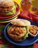 Caribbean Turkey Burger w/ Honey Pineapple Chutney - South Dakota Poultry Industry Association