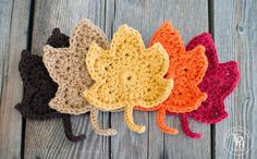 Fall Maple Leaves Free Crochet Pattern  August 31, 2015 by Michelle 187 Comments…