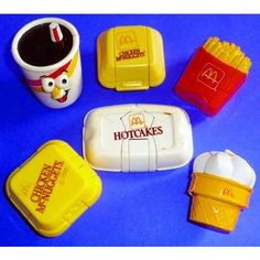 My little sister still has her collection of transforming McDonalds food and her Fry Guys!