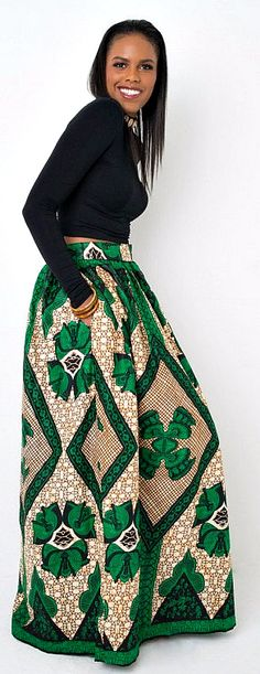 Maxi skirt. African print. Cotton. Back zipper. Small elastic on each side of the zipper. Ankara | Dutch wax | Kente | Kitenge | Dashiki | African print dress | African fashion | African women dresses | African prints | Nigerian style | Ghanaian fashion | Senegal fashion | Kenya fashion | Nigerian fashion (affiliate)