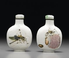 An enamelled 'katydid' snuff bottle Imperial, Jingdezhen kilns, Daoguang mark and of the period, 1821-1850