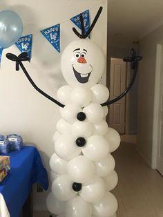 Olaf Balloon Column Frozen Party