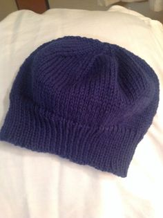 Navy blue mini beanie