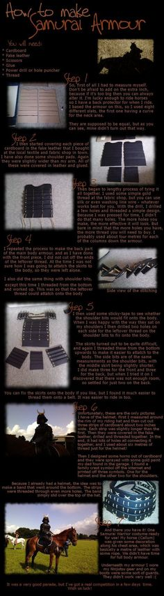 How to make Samurai Armour