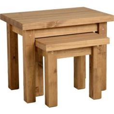 Buy home small lamp side table oak at argos im going to buy tortilla nest of 2 tables distressed waxed pine from our lamp side tables range watchthetrailerfo