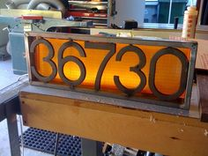 DIY LED house numbers, LOVE THIS!