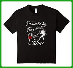 Kids Powered By Fairy Dust And Wine T-shirt 6 Black - Food and drink shirts (*Amazon Partner-Link)