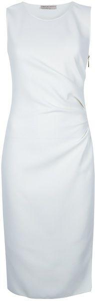 Zip Crepe Dress - Lyst