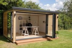 shed office ideas garden shed ideas modern garden office design creative home office ideas garden shed office ideas uk Garden Office Shed, Backyard Office, Outdoor Office, Backyard Studio, Garden Sheds, Garden Studio, Backyard Sheds, Diy Garden, Outdoor Sheds