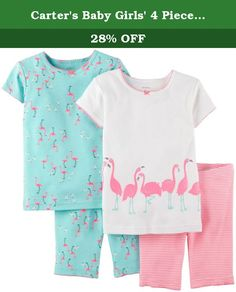 Carter's Baby Girls' 4 Piece Short PJ Set (Baby) - Flamingo - 6 Months. Carter's 4 Piece Short PJ Set (Baby) - Flamingo Carter's is the leading brand of children's clothing, gifts and accessories in America, selling more than 10 products for every child born in the U.S. Their designs are based on a heritage of quality and innovation that has earned them the trust of generations of families.