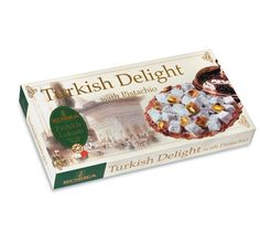 Turkish Delight by Koska with Pistachios All natural Ingredients: Vegetarian Society Approved, Kosher Certified, Vegan, Gluten Free, GM Free Turkish Sweets, Turkish Coffee, Cofee Machine, Turkish Delight, Pistachios, Vegetarian, Vegan, Gluten Free, Gifts