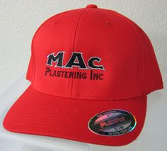 Crisp embroidered hat for our friends over at MAC Plastering