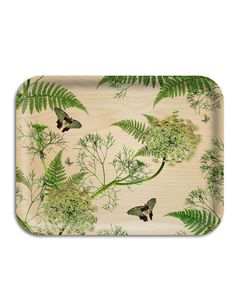 Michael Angove's natural Dill tray is all about bringing the outside in. By using delicate dill, feathery sword fern and an assortment of butterflies, it has a great feeling of gardens, allotments, herbs and botany. Decorative Accessories, Home Accessories, Fashion Accessories, Theo Theo, Sword Fern, Modern Dinnerware, Illustrations, Chinoiserie, Scandinavian Design