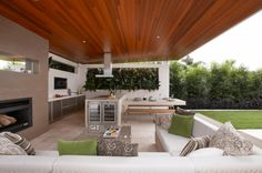 """Fantastic """"outdoor kitchen designs layout patio"""" info is readily available on our internet site. Have a look and you wont be sorry you did. Modern Outdoor Kitchen, Outdoor Kitchen Bars, Outdoor Kitchens, Outdoor Living Areas, Outdoor Spaces, Outdoor Decor, Outdoor Fire, Küchen Design, Design Ideas"""