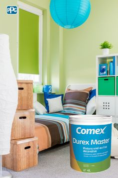 Durex Master es una pintura decorativa disponible en variedad de colores pastel.  #ProductosComex #Comex #ComexLATAM #Colorful #Ideas #Room #Kids #Inspiration Colores #Inspiracion #Home #DIY #Niños