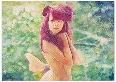 """ORIGINAL AQUARELL """"Fairy"""""""