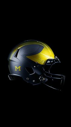 Michigan Wolverines alternate helmet designed by Detroit Design Company. Connect with them on Dribbble;