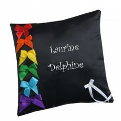 coussin alliance mariage gay personnalisé femme LGBT Satin Noir, Ted, Tote Bag, Bags, Wedding Ring, Wedding Anniversary, Women's, Handbags, Carry Bag
