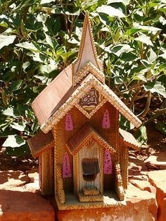 Handmade New Mexican Folk Art Church Birdhouse Large Lark Sedona | eBay