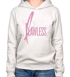 White Heavy Blend FLAWLESS Hoodie For Women by PrintMasterNYC