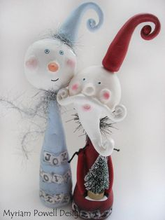 Snowman Art Doll  Whimsical Snowman