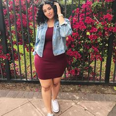 Thick Girls Outfits, Curvy Girl Outfits, Cute Casual Outfits, Chic Outfits, Fashion Outfits, Chubby Fashion, Curvy Women Fashion, Cute Fashion, Looks Plus Size