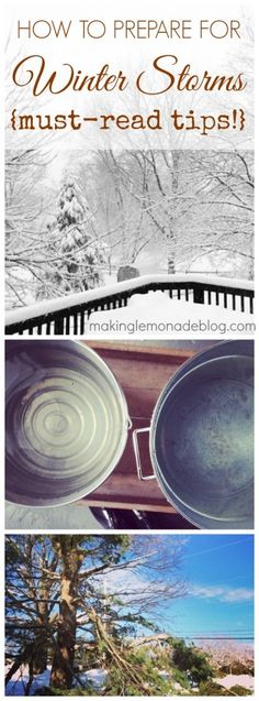 #motherearthproducts repin Don't wait until bad weather hits! 10 tips on how to prepare for winter storms and power outages- important tips from www.makinglemonadeblog.com that can save you THOUSANDS of dollars in damages!