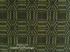 """BLACK & TAN GEOMETRIC WOVEN TABLE RUNNER 32.25"""" x 15"""" Cotton/Acry Primitive 5070 #Unbranded"""