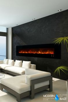 """This 100"""" electric fireplace is the perfect addition to any bedroom, living room, office, and many more!"""