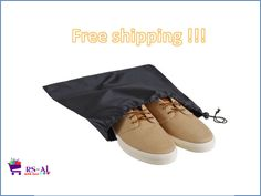 """Portable Travel Luggage 12.5"""" by 15"""" Durable Drawstring Nylon Carry On Shoe Bag #WearWide"""