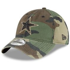 cebef665552c0c Men's Dallas Cowboys New Era Camo Rugged Stack Trucker 9TWENTY Adjustable  Snapback Hat