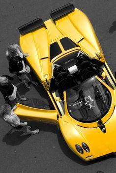♂ Yellow car Pagani Zonda
