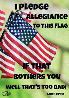 I pledge allegiance to my flag & my country. I will never pledge allegiance to our F*ck-tard president. Seriously -- can't we, the people, just all pitch in & hire a sniper already? I Love America, God Bless America, America America, American Pride, American Flag, Mexican American, American Spirit, American Soldiers, Patriotic Quotes