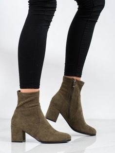 Členkové topánky na podpätku Booty, Ankle, Shoes, Fashion, Moda, Swag, Zapatos, Wall Plug, Shoes Outlet