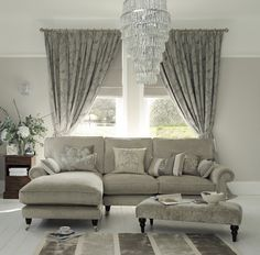 Find sophisticated detail in every Laura Ashley collection - home furnishings, children's room decor, and women, girls & men's fashion. New Living Room, Home And Living, Living Room Decor, Coastal Living, Decoration Gris, Childrens Room Decor, Living Room Inspiration, Home Furnishings, Sweet Home