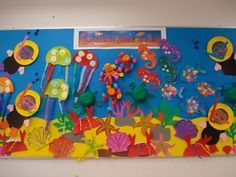 Pre-K Under the Sea class display.