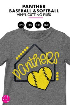 eeff2f82 Panthers Baseball & Softball with Home Plate | SVG DXF EPS PNG Cut  Files What