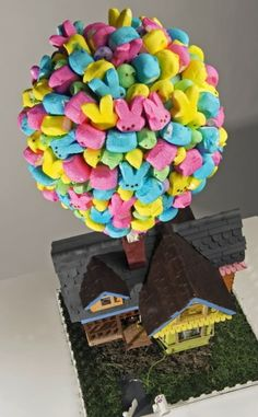 Easter Peep: house from Pixar's UP