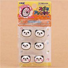 panda bear bicycle spoke beads spoke clips from Japan