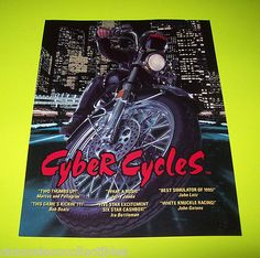 On-Sale-CYBER-CYCLES-By-NAMCO-1995-ORIGINAL-NOS-VIDEO-ARCADE-GAME-SALES-FLYER #cybercycles #videogameflyers #arcadeflyer