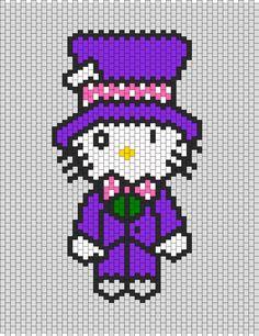 Mad Hatter Hello Kitty Bead Pattern