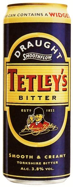 "Tetley's Bitter (ale). Tetley's Brewery was a regional brewery founded in 1822 by Joshua Tetley in Leeds, West Yorkshire (torn down in 2012 to much anger). Traditional brewing methods, such as dry hopping of cask ales & Yorkshire Square fermenting vessels are still used even in the new plant in The West Midlands.Tetley's Original is a traditional style ale with a full-bodied hop flavor & a crispness on the palate. The cans include a ""Widget"" (small plastic device) which gives canned beer a…"